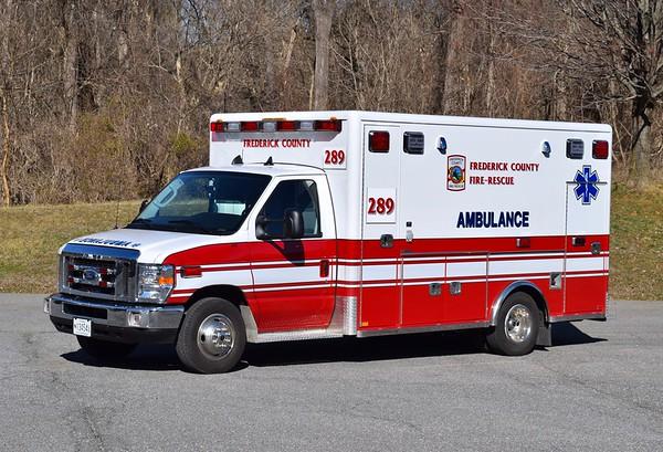 Ambulance 289 is a 2008 Ford E-450/Horton.