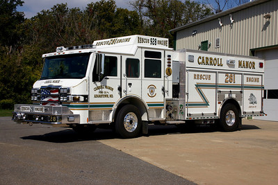 Former Rescue Engine 281 was this nice 2009 Pierce Impel, 1500/750, sn- 21798.  Sold to Bowley's Quarters, Maryland.