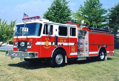 Former Rescue Engine 153, a 1997 KME Renegade, 1250/1000.