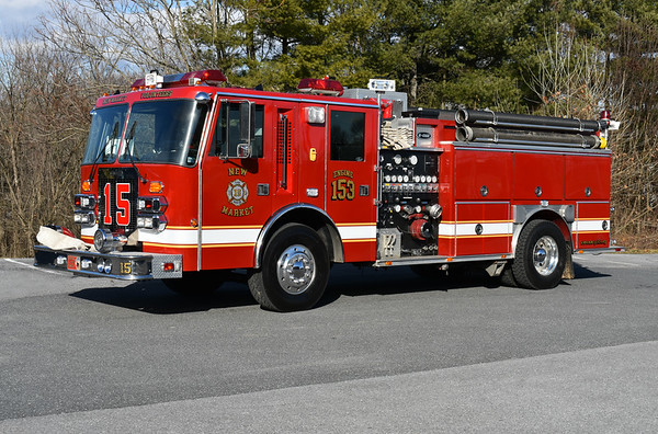 Engine 153 for New Market, Maryland was received in 2019 from Conestoga, PA (Lancaster County) where it ran as Engine 53-1.  1990 Simon Duplex/E-One that was rehabbed in 2010 and again by New Market in 2019 by Adkins Automotive.  1500/1000/30B