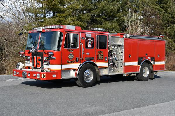 New Market, Maryland Engine 152 - a 2014 KME Predator Server Service with a 1500/750.  GSO-9581.