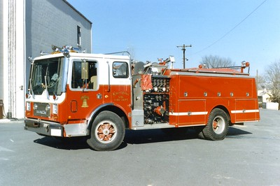 Engine 171 from Libertytown was a 1980 Mack MC, 1000/1000.