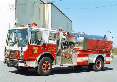 Tanker 17 was a 1984 Mack MC/1995 4-Guys, 1000/2000.  Sold to Windsor, Pennsylvania (Laurel Fire Company), in 2004.