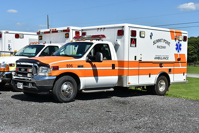 """""""896"""" from Summit Point is a 2003 Ford F350/Horton that was originally delivered to Brunswick, Maryland where it ran as Ambulance 197,"""