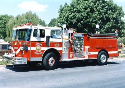 Former Engine 23 from Junior, a 1983 Sutphen, 1000/750.
