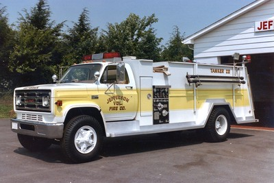 Tanker 20 was a 1978 GMC/3D Metals, 300/1750.