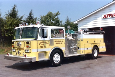 Jefferson's Engine 201 was a 1980 Seagrave HB, 1250/750.