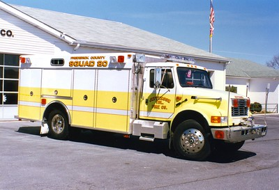 Former Squad 20, a 1994 International 4900/KME.