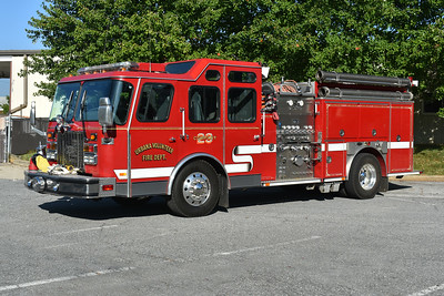 Urbana, Maryland in Frederick County - Engine 232 - a 1996 E-One Cyclone 1250/750 with s/n 16565.  Ex- Engine 231.