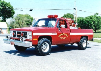 Brush 235, a 1987 GMC/fd, 250/250.  Photographed with its former body.