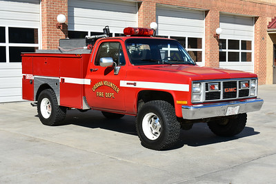 Brush 235 for Urbana, Maryland is a 1986 GMC Sierra 2500/MCB equipped with a 250/200.