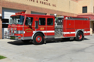 Engine-Tanker 23 from Urbana, Maryland in Frederick County is this 1992 E-One Cyclone with a 1250/1500 and serial number 10432.