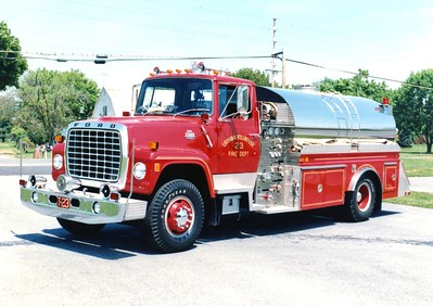 Tanker 23 was a 1984 Ford L/4-Guys, 750/1800.