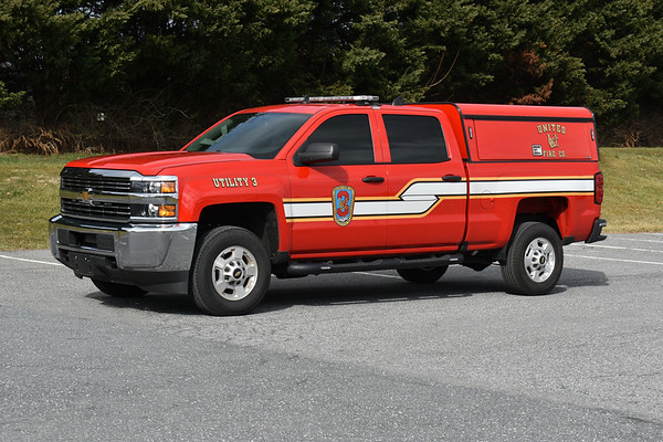 Utility 3 at United Fire Company is a 2017 Chevrolet 2500.
