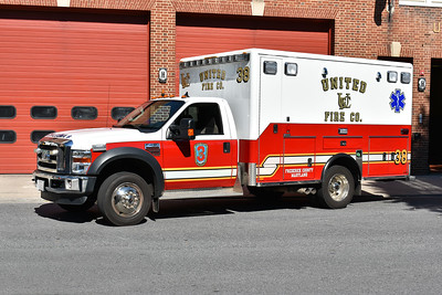United Fire Company in Frederick, Maryland - Ambulance 38 - a 2010 Ford F450/Horton.
