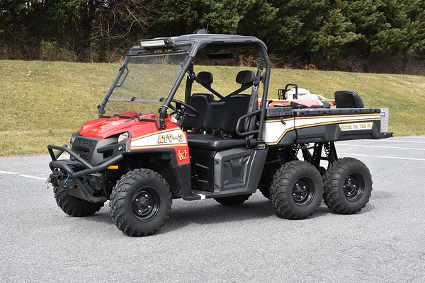 ATV-3 at United (Frederick, Maryland) is a 2011 Polaris Ranger 6x6 outfitted by Kimtek Medlite Transport.