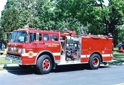 United Fire Company's former Engine 33, a 1979 Ford C/Pierce, 1000/500.
