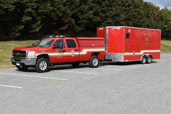 United's Utility 31 and ATV trailer.  2011 Chevrolet 3500. 2018 15' Homesteader Trailer.