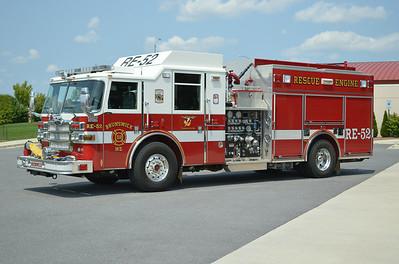 Rescue Engine 52 is a 2007 Pierce Dash, 1500/650, sn- 18920.