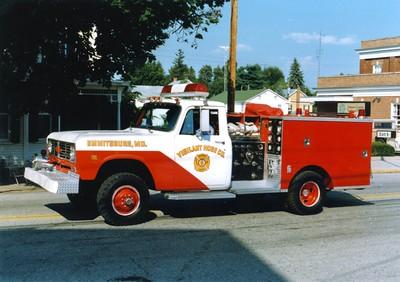 Emmittsburg's former Brush 66, a 1973 International/Pierce, 300/300.  ex - Buffalo, New York.