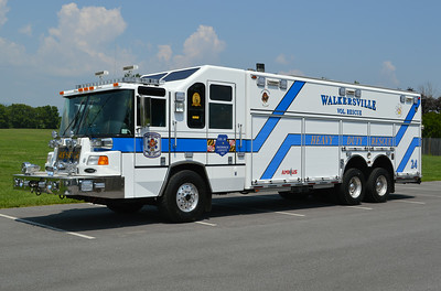 Rescue 24 is rather large - a 2001 Pierce Quantum, sn- 12290 that was rehabbed in 2014 by Atlantic.  Note the double roto-rays and train horn on the bumper.