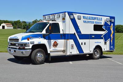 One of two similar units, Ambulance 247 is a 2009 Chevrolet C4500/PL Custom.