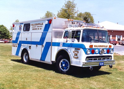Former Rescue 24 from Walkersville Rescue, a 1983 Ford C/EVF.