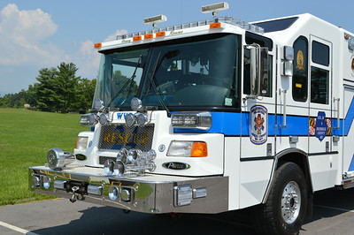 Close up of the Walkersville heavy rescue.