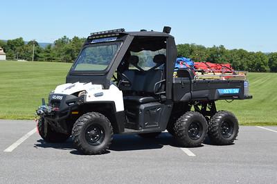 Last from Walkersville Rescue is ATV 24, a 2012 Polaris 6x6.