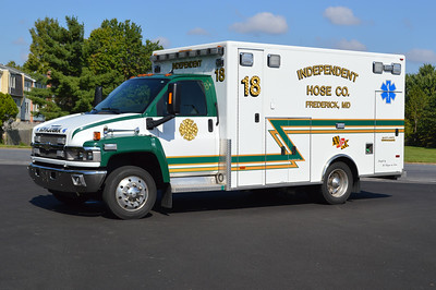 "Frederick, MD - Independent Hose Company - ""18"" - a 2010 Chevrolet C4500 with a PL Custom ambulance body."