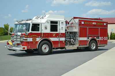 Rescue Engine 52 is a 2007 Pierce Dash, 1500/650, sn- 18920.