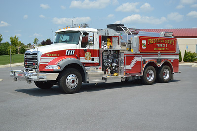 Tanker 5 is a Frederick County owned unit, a 2010 Mack Granite/Pierce, 1500/3000, sn- 22836.