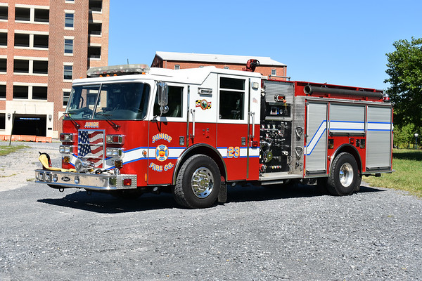 Junior's Engine 23 from Frederick, Maryland is this 2002 Pierce Dash 1250/1000 with Pierce job number 12860.