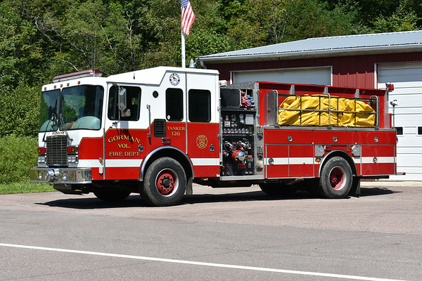 Gorman  Tanker 126, a 2001 HME 1871/4-Guys  1500/1600 and 4-Guys number F2129.
