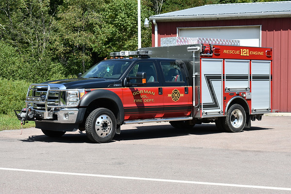 Gorman, Maryland Rescue Engine 121, a 2013 Ford F550 4x4/4-Guys 1000/290 with 4-Guys number F-2897..