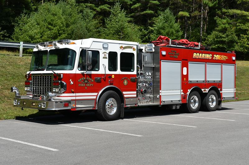 Engine-Rescue 22 from Deer Park, Maryland is this 2011 Spartan Gladiator/4-Guys 1500/2000/50/50 with 4 Guys serial number F2764.