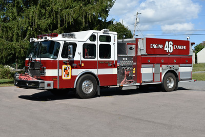 Engine Tanker 46 from Oakland, Maryland is a 2008 E-One Cyclone II  20000/1500 with sn 134114.