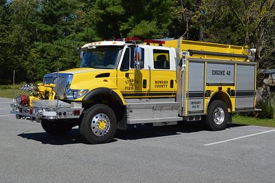 Lisbon, Maryland's Engine 42, a 2004 International 7400 4x4/Pierce front mount 1250/750.  Pierce job number 15311.