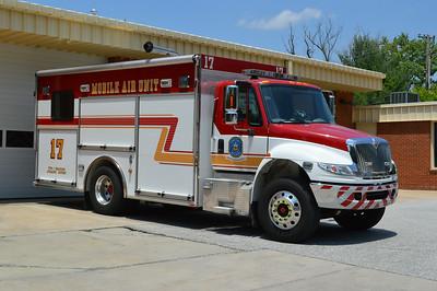Air 17 is kept at FS 8 in Ellicott City, a 2005 International 4400/Pierce, sn- 16836.