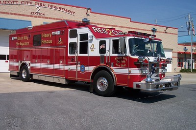 Former Rescue 2 was this 2003 Pierce Lance, sn- 14623 that was sold when Ellicott City went out of the Heavy Rescue business.