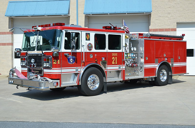 Ellicott City Fire and Rescue - Howard County Station 2.  Ellicott City operates stations 2 and 8.  Engine 21 is this 2010 Seagrave Marauder II, 1500/750, sn- 78G03.  One of two operated by Ellicott City.