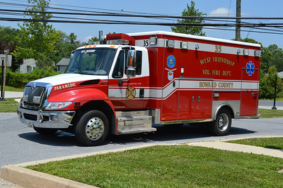 Medic 35 is a 2007 International 4300/Horton.