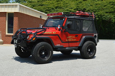 Brush 87 is this sharp 2001 Jeep Wrangler with a 160 gallon water tank.
