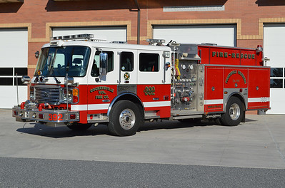 Engine 392 from Cockeysville, Maryland in Baltimore County is this 2007 ALF Eagle with a 1500/1000 and s/n AY24604.