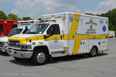 White Marsh Fire and Rescue - Baltimore County Station 20.  Ambulance 203 is a 2010 GMC/Horton.
