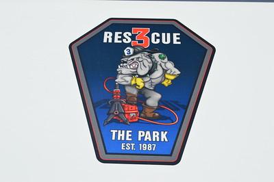 The emblem found on Bay District's Rescue 3, a 2014 Pierce Arrow XT.