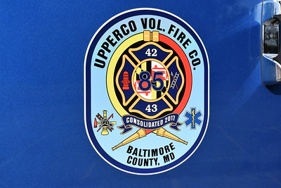 Upperco VFC in Baltimore County was organized on September 1, 2017 and was a merger of Boring, MD Station 42 and Arcadia, MD Station 43.  42+43=85.....thus Station 85.