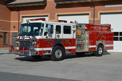 Cockeysville, Maryland in Baltimore County operates two ALF engines.  Engine 391 is this 2002 ALF Eagle with a 1750/1000 and s/n AK48366.