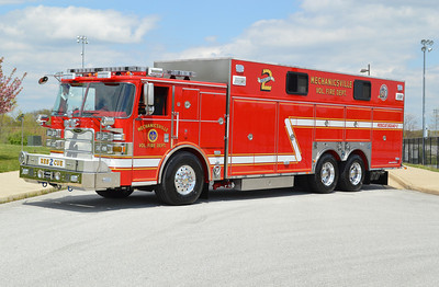 Mechanicsville Fire Department - St. Mary's County Station 2.  Rescue 2 is this beautiful 2013 Pierce Arrow XT walk-in rescue.