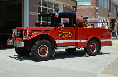 Brush 502 is this unique 1953 Dodge Power Wagon M-37/1962 Long & Son/1995 PA Fire Apparatus, 300/200.  ex - Military Weapons Carrier.